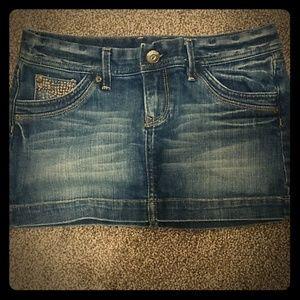 X2 Quality Denim Jean Mini Skirt